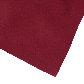 Solid Italian Table Linens | Claret - GDH | The decorators department Store