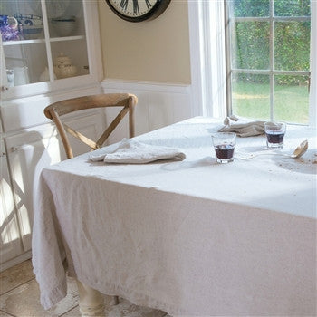 Solid Italian Table Linens | Natural - GDH | The decorators department Store
