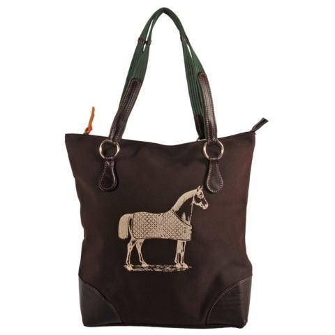 Rebecca Ray Burghley Tote with Horse Design - GDH | The decorators department Store