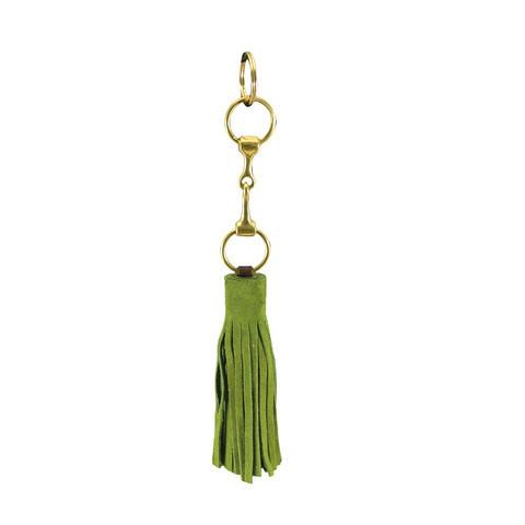 Suede Snaffle Tassel Key Fob | Loden - GDH | The decorators department Store