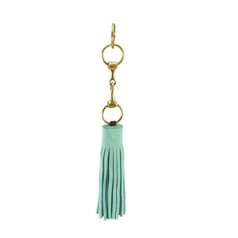 Suede Snaffle Tassel Key Fob | Seahorse - GDH | The decorators department Store
