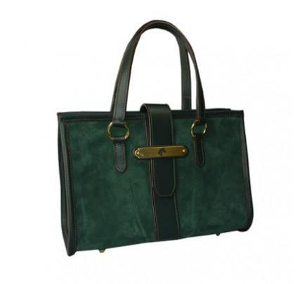 Paddock Collection Suede Leather Satchel