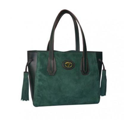 Paddock Collection Suede Leather Tote