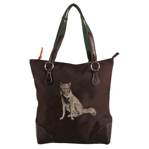 Burghley Fox Tote Bag | Black