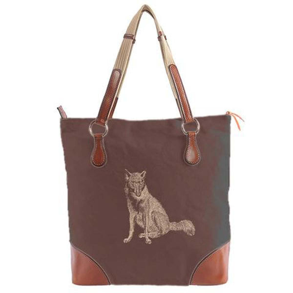 Burghley Fox Tote Bag | Brown
