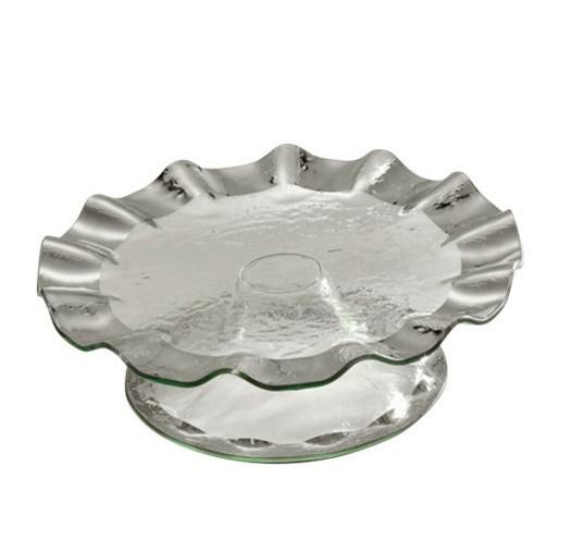 Annieglass Ruffle Series Cake Stand