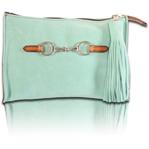 Suede Snaffle Clutch with Suede Tassel | Seahorse - GDH | The decorators department Store