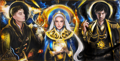 Mal, Alina, and The Darkling by BxRomance