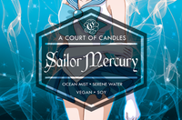 Sailor Mercury - 100% Soy Wax - Sailor Moon - A Court of Candles