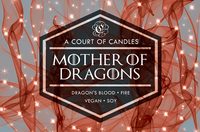 Frosted Candle Sale - Mother of Dragons - 100% Soy Wax - A Court of Candles