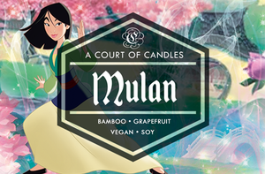 Mulan - Fairytale Princesses Limited Edition - Soy Candle