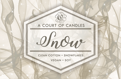 Snow - 100% Soy Wax - A Court of Candles