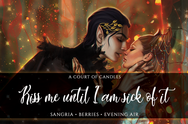 Kiss Me Until I am Sick of It - Art Focused Design - Soy Candle