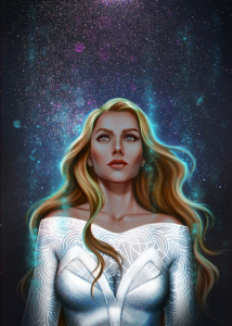 Art Print - Feyre by Salome Totladze