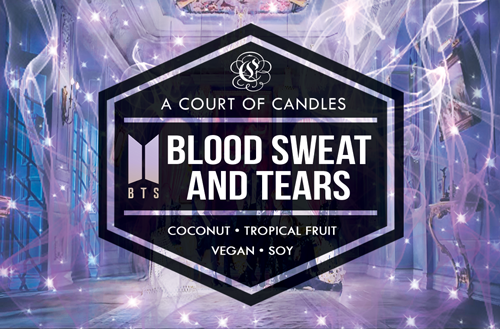 BLOOD SWEAT AND TEARS [BTS]  - Soy Candle