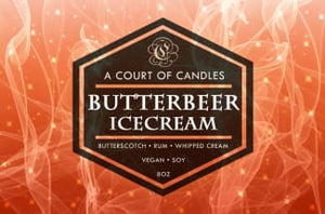 Butterbeer Icecream - Soy Candle - Candles