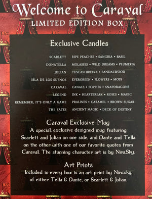 Welcome to Caraval - October's Limited Edition Box