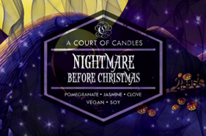 Nightmare Before Christmas - Soy Candle - Candles