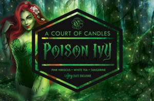 Poison Ivy - Litjoy Crate Excl - 9Oz Glass Jar - Candles