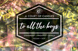 To all the boys - Soy Candle