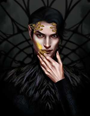 Art Print: The Wicked King - by Salome Totladze