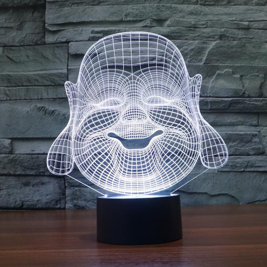 Laughing Buddha 3D Optical Illusion Lamp - 3D Optical Lamp