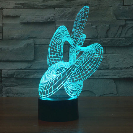 Abstract Wavy 3D Optical Illusion Lamp - 3D Optical Lamp