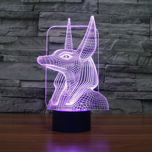 Traditional Egyptian God 3D Optical Illusion Lamp - 3D Optical Lamp