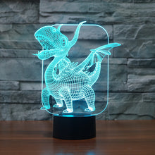 Cartoon Pterosaur 3D Optical Illusion Lamp - 3D Optical Lamp
