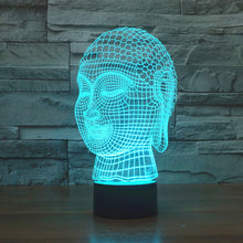 Traditional Buddha Head Bust 3D Optical Illusion Lamp - 3D Optical Lamp