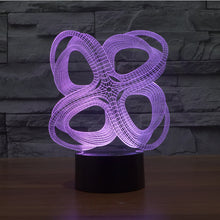 Abstract Impossible Object 3D Optical Illusion Lamp - 3D Optical Lamp