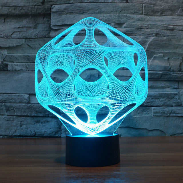 Abstract Prism Structure 3D Optical Illusion Lamp - 3D Optical Lamp
