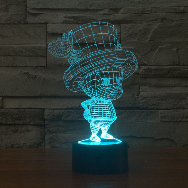Adorable Joe 3D Optical Illusion Lamp   3D Optical Lamp
