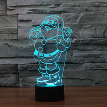 Jolly Santa Claus 3D Optical Illusion Lamp - 3D Optical Lamp