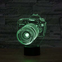 Canon Inspired DSLR 3D Optical Illusion Lamp - 3D Optical Lamp
