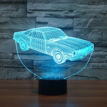 Ford Inspired Muscle Car 3D Optical Illusion Lamp - 3D Optical Lamp