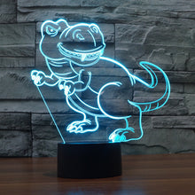 Cartoon Tyrannosaurus Rex 3D Optical Illusion Lamp - 3D Optical Lamp