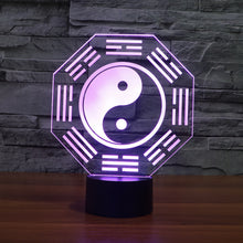 Traditional Chinese Eight Diagrams 3D Optical Illusion Lamp - 3D Optical Lamp