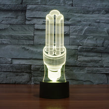 Energy Saving Bulb Sculpture 3D Optical Illusion Lamp - 3D Optical Lamp