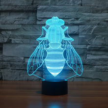 Realistic Fly Insect 3D Optical Illusion Lamp - 3D Optical Lamp