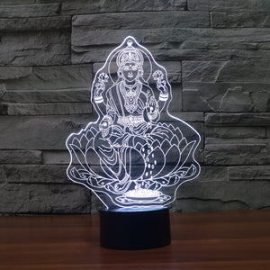 Traditional Buddhist 3D Optical Illusion Lamp - 3D Optical Lamp