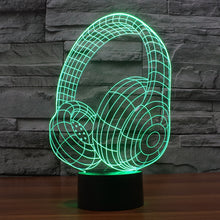 Beats By Dre Inspired Headphones 3D Optical Illusion Lamp - 3D Optical Lamp