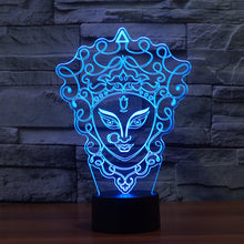 Mysterious & Stylish Mask 3D Optical Illusion Lamp - 3D Optical Lamp