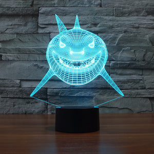 Shark Tale Inspired 3D Optical Illusion Lamp - 3D Optical Lamp