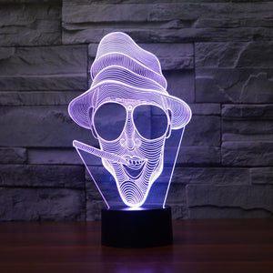 Fear and Loathing in Las Vegas Inspired 3D Optical Illusion Lamp - 3D Optical Lamp