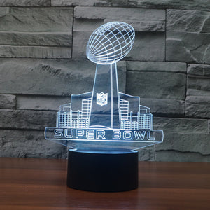 NFL Inspired Super Bowl 3D Optical Illusion Lamp - 3D Optical Lamp