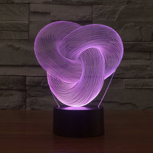 Abstract Multidimension Knot 3D Optical Illusion Lamp - 3D Optical Lamp