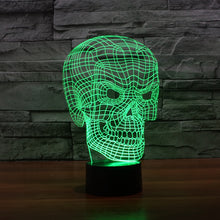 Realistic Angry Skull 3D Optical Illusion Lamp - 3D Optical Lamp