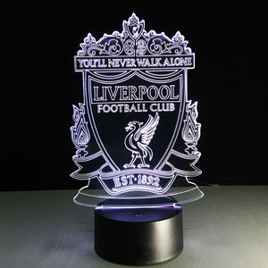 Football Liverpool 3D Optical Illusion Lamp - 3D Optical Lamp