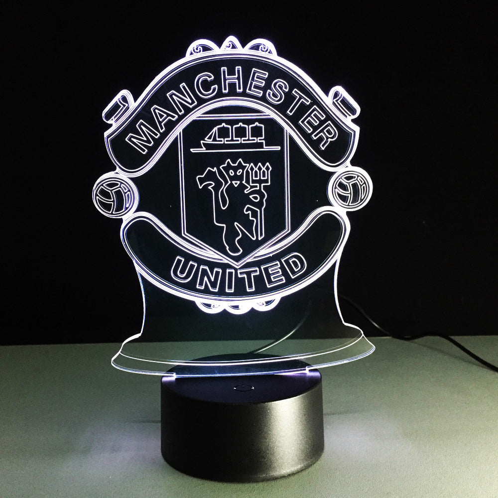 Football Manchester 3D Optical Illusion Lamp - 3D Optical Lamp